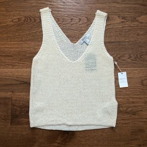 Forever 21 Cream Sweater-knit Tank Top